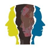 Schizophrenia depression male head silhouettes. Ripped paper Male head silhouettes. Concept symbolizing schizophrenia, dementia, depression.Vector available.