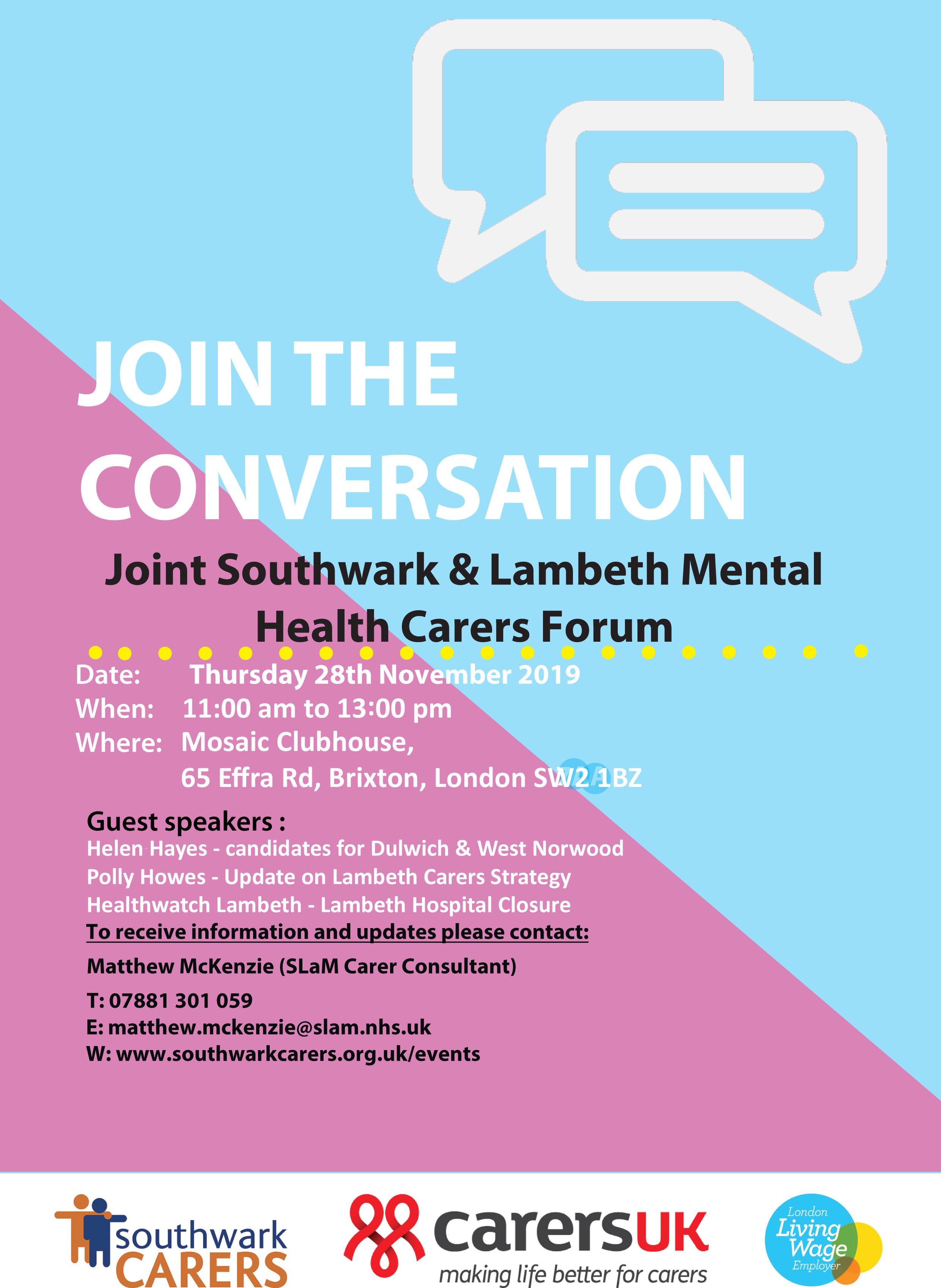Southwark & Lambeth MH Forum 28-11-19