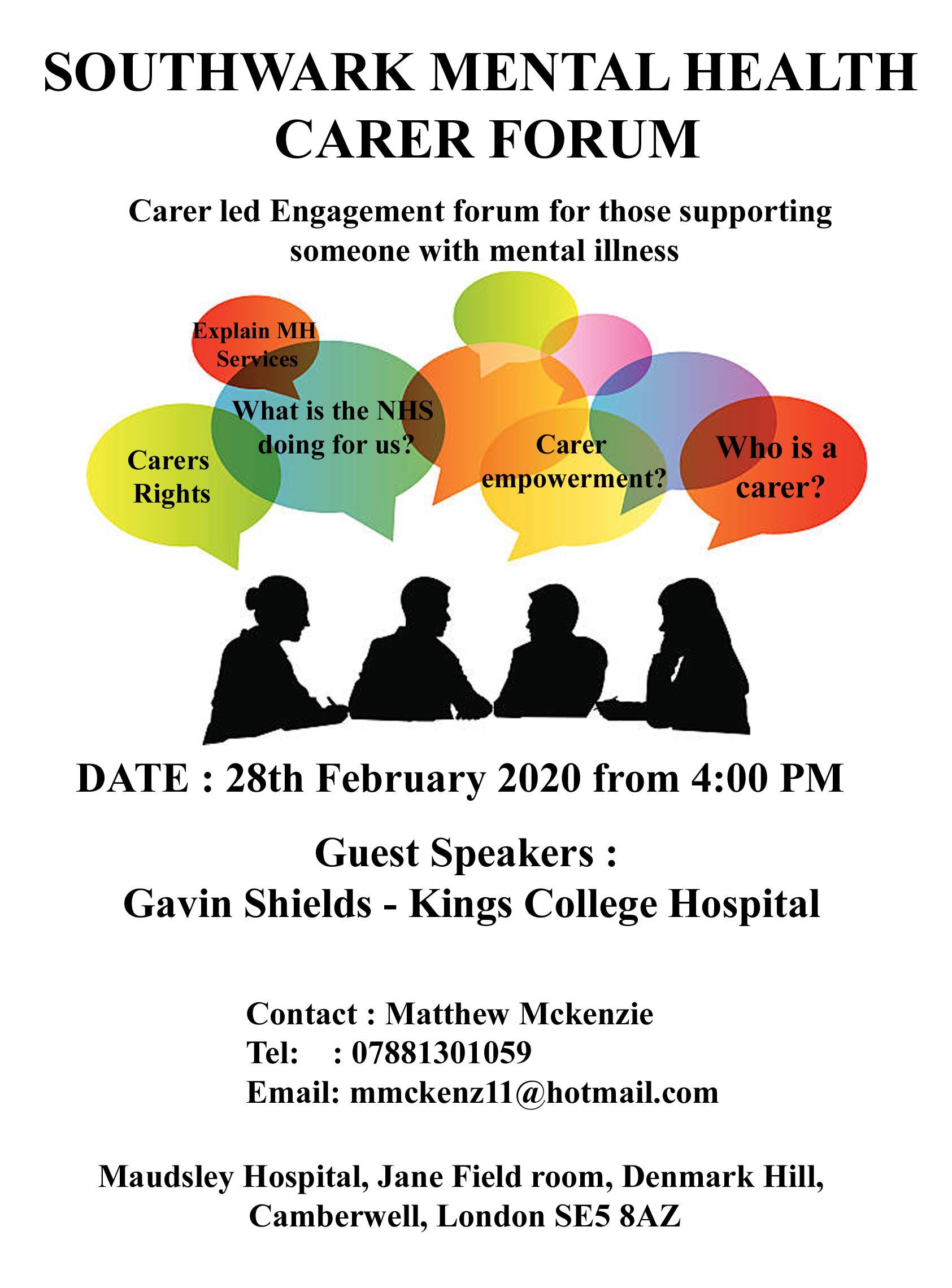 Southwark MH Carer forum v2